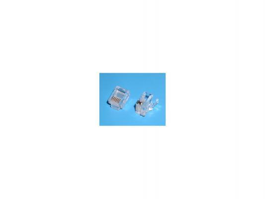 Коннектор RJ-12 Buro TLUS-037 100шт коннектор rj 11 buro tlus 037 rj 11 100