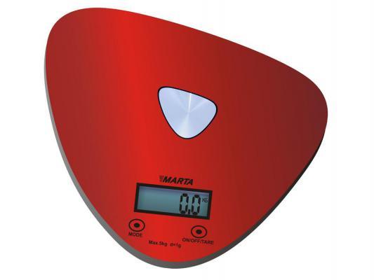 Весы кухонные Marta MT-1632 красный