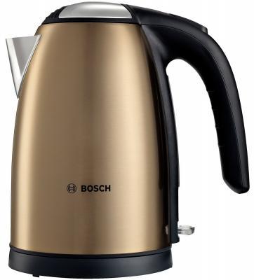 Чайник Bosch TWK 7808 2200 Вт золотистый 1.7 л металл usb 2 0 to micro usb data charging nylon cable for amazon kindle fire paperwhite black yellow