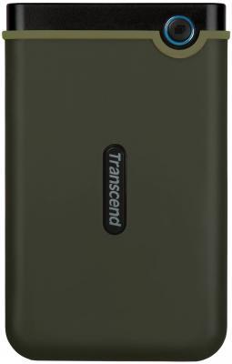 """Внешний жесткий диск 2.5"""" USB3.0 2 Tb Transcend StoreJet 25M3 TS2TSJ25M3 черно-зеленый"""
