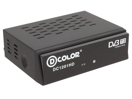 Тюнер цифровой DVB-T2 D-Color DC1201HD ECO