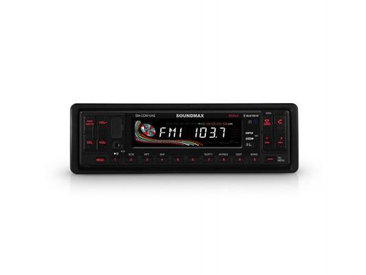 Автомагнитола Soundmax SM-CDM1042 CD USB MP3 FM RDS SD MMC 1DIN 4x50Вт пульт ДУ черный