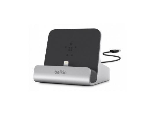 купить Док-станция Belkin F8J088bt для iPad/iPad mini/iPhone 5/iPod touch серебристый недорого