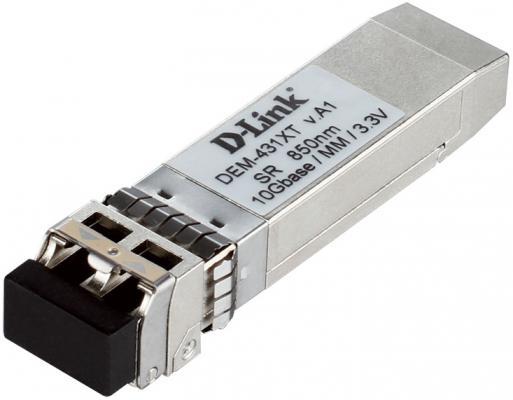 Трансивер сетевой D-Link DEM-431XT 10GBASE-SR SFP+ Transceiver w/o DDM 3.3V