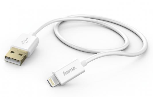 Кабель Hama H-102099 USB A(m) - Apple Lightning (m) 1.5м для Apple iPhone 5 белый