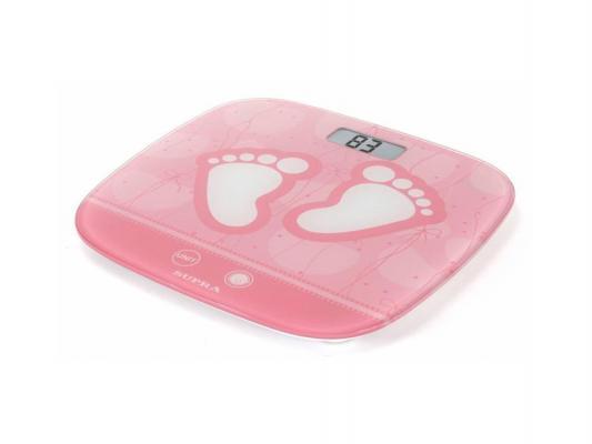 Весы напольные Supra BSS-6055 розовый рисунок