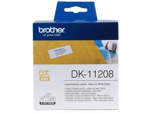 Наклейки Brother DK11208 адресные 38х90мм brother hq 19