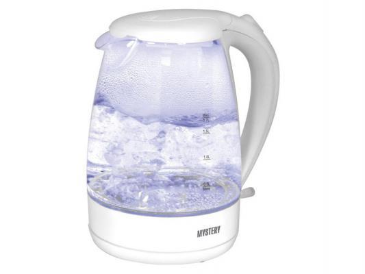 Чайник MYSTERY MEK-1626 2200 Вт белый 1.7 л пластик/стекло