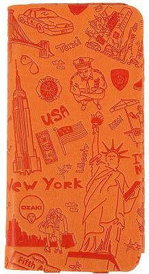 Чехол-книжка Ozaki O!coat Travel для iPhone 6 оранжевый OC569NY
