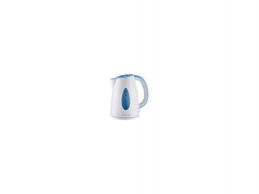 Чайник Polaris PWK 1752C 2200Вт 1.7л пластик бело-голубой чайник электрический polaris pwk 1752c зеленый белый