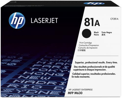Картридж HP CF281A №81A для LaserJet Enterprise MFP M630 черный nv print cf303a magenta тонер картридж для hp laserjet enterprise flow mfp m880z m880z plus m880z plus nfc