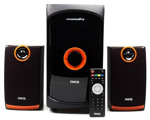 Колонки Dialog Progressive AP-200 2x15 + 30 Вт USB+SD reader черный