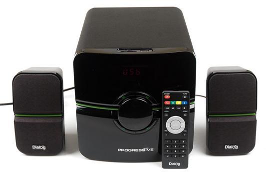 Колонки Dialog Progressive AP-203 2x10 + 18 Вт USB+SD reader черный