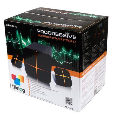 Колонки Dialog Progressive AP-205B 2x10 + 18 Вт USB Bluetooth черный
