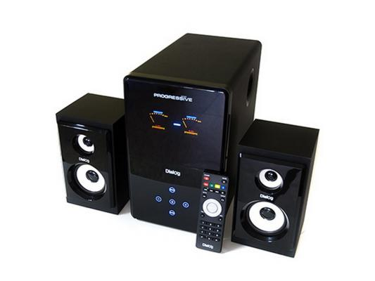 Колонки Dialog Progressive AP-220 2x15 + 30 Вт USB+SD reader черный от 123.ru