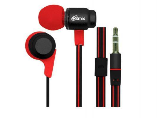 Наушники Ritmix RH-185 черно-красный