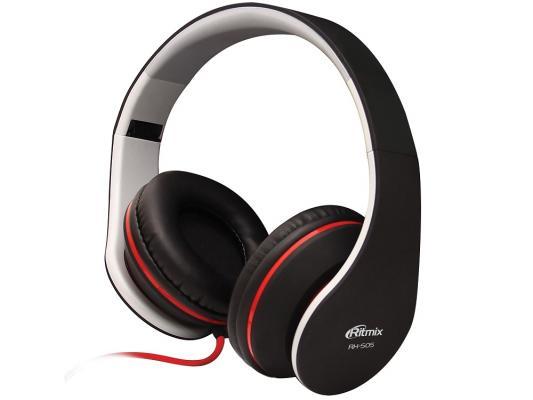 Наушники Ritmix RH-505 черный аудио наушники ritmix гарнитуры ritmix rh 565m gaming