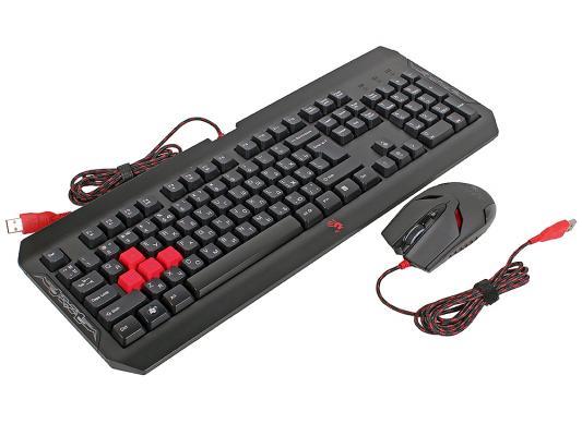 Комплект A4Tech Bloody Q1100 черный USB цена и фото