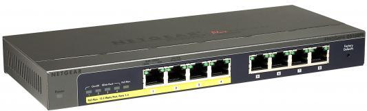 Коммутатор Netgear GS108PE-300EUS управляемый 8 портов 10/100/1000Mbps