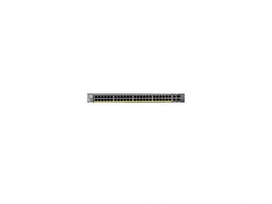 Коммутатор Netgear FSM7250P-100NES управляемый 48 портов Ethernet 10/100Mbps uplin 2xEthernet 10/100/1000Mbps 2 слота коммутатор netgear xs708t 100nes xs708t 100nes