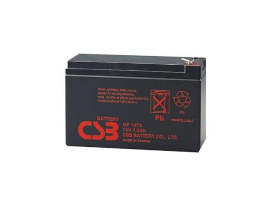 Батарея CSB GP1272 28W 12V/7AH F2 батарея csb hrl634w f2 6v 9ah
