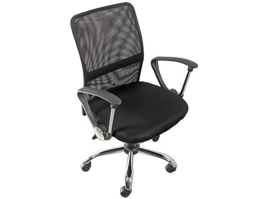 Кресло College H-8078F-5 ткань офисное крестовина хромированный металл подлокотники пластик черный кресло college hlc 0601 черный
