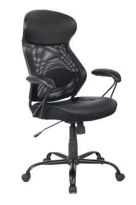 Кресло руководителя College HLC-0370 экокожа крестовина хром/металл подлокотники пластик черный
