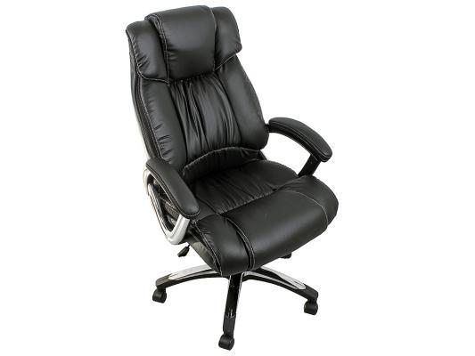 Кресло руководителя College H-8766L-1 экокожа крестовина хром подлокотники кожа/хром черный