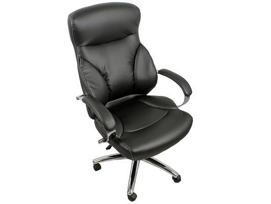 Кресло руководителя College H-9582L-1K экокожа крестовина хром подлокотники кожа/хром черный кресло руководителя college h 9582l 1k