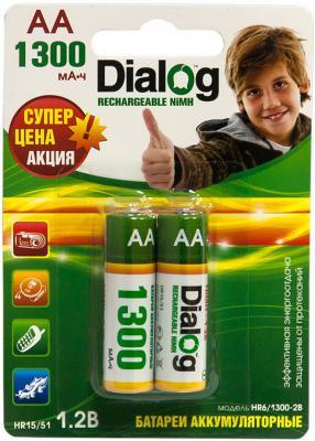 Аккумуляторы Dialog HR6/1300-2B 1300 mAh AA 2 шт