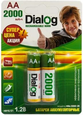 Аккумуляторы Dialog HR6/2000-2B 2000 mAh AA 2 шт