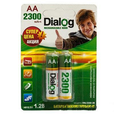 Аккумулятор Dialog HR6/2300-2B 2300 mAh AA 2 шт