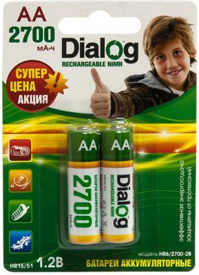 Аккумуляторы HR6/AA Dialog HR6/2700-2B NiMH 2700mAh 2шт