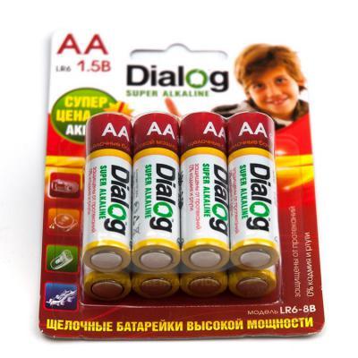 Батарейки Dialog Super Alkaline AA 8 шт LR6-8B