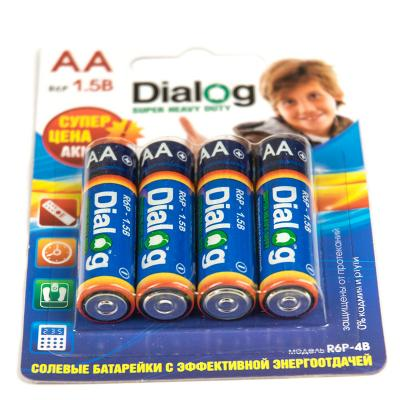 Батарейки Dialog R6P-4B AA 4 шт 10 sets dialog 14580 wristband beacon bluetooth 4 0 programmable ibeacon hardware