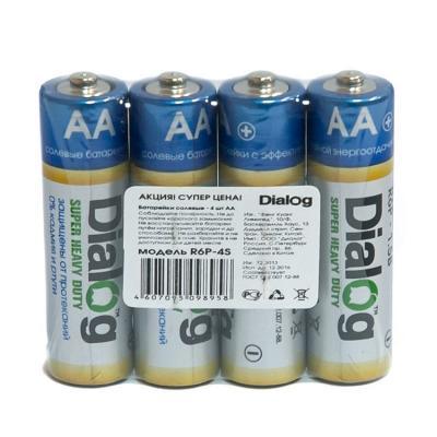 Батарейки Dialog R6P-4S AA 4 шт