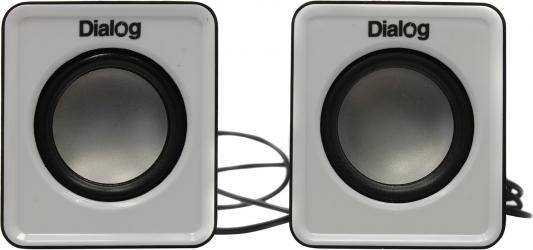 Колонки Dialog Colibri AC-02UP 6Вт USB черно-белый