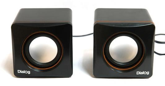 Колонки Dialog Colibri AC-04UP 6Вт USB черно-оранжевый цена и фото