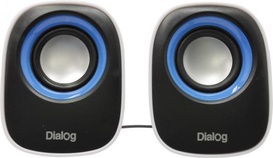 Колонки Dialog Colibri AC-06UP 6Вт USB черно-белый колонки dialog colibri ac 02up 6w usb черный