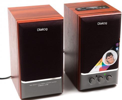 Колонки Dialog Disco AD-07 2x12Вт вишневый