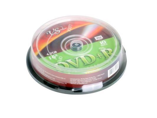 Диски DVD+R VS 4.7Gb 16х Shrink/10шт 62040
