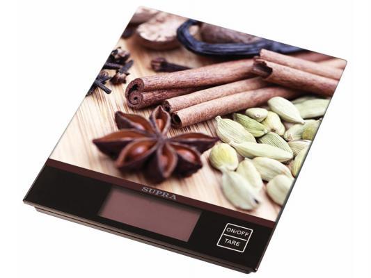 Весы кухонные Supra BSS-4097 коричневый