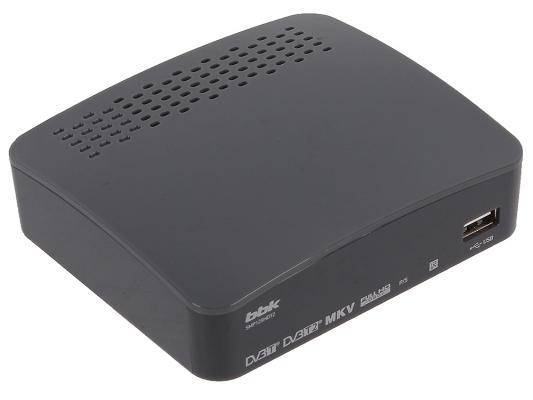 Тюнер цифровой DVB-T2 BBK SMP129HDT2 темно-серый