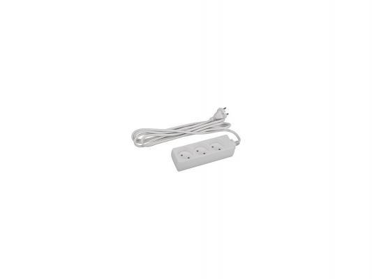 Удлинитель ЭРА U-3-5m 5м 3 розетки белый удлинитель эра u 1е 5m б0026330