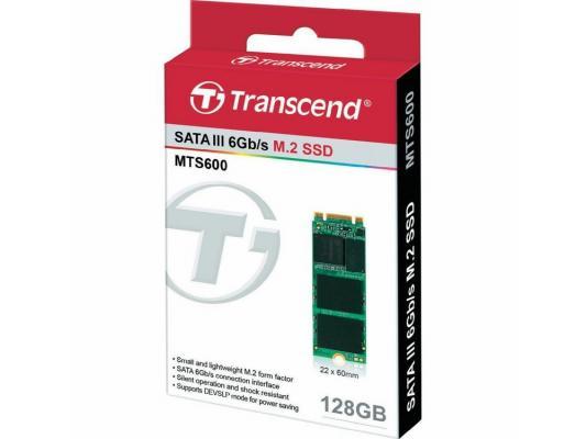 Твердотельный накопитель SSD M.2 2260 128GB Transcend MTS600 Read 560Mb/s Write 160mb/s SATAIII TS128GMTS600 твердотельный накопитель 2 5 128gb patriot spark read 560mb s write 545mb s sataiii psk128gs25ssdr