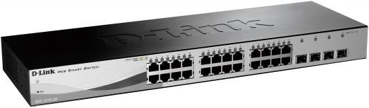 Коммутатор D-LINK DGS-1210-28/C1A/F1A 24порта 10/100/1000Mbps 4xSFP коммутатор d link dgs 1210 52mp c1a dgs 1210 52mp c1a
