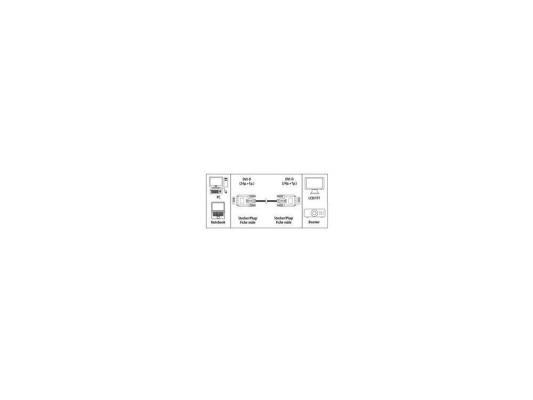 Кабель DVI-DVI 3.0м Hama High Quality серый H-42140 от 123.ru