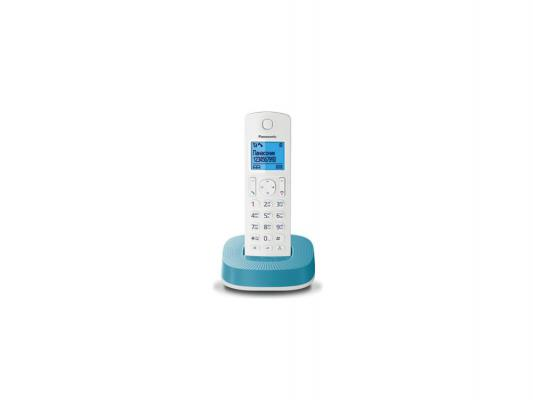 Радиотелефон DECT Panasonic KX-TGC310RUC бело-синий радиотелефон dect panasonic kx tg6811rub черный