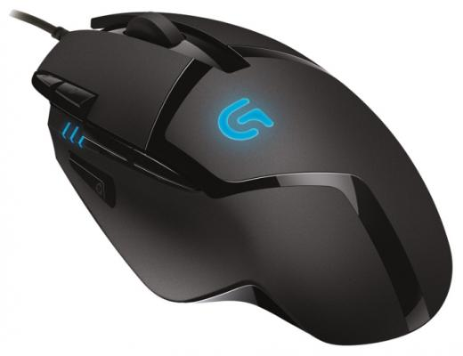 все цены на Мышь проводная Logitech G402 Hyperion Fury чёрный USB 910-004067 онлайн