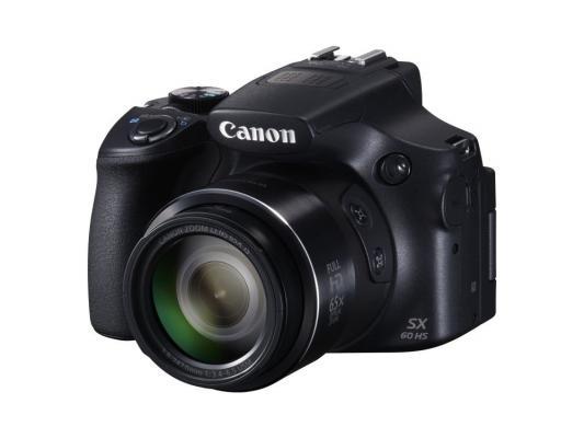 цена на Цифровая фотокамера Canon PowerShot SX60 HS 16.8Mp 65x Zoom черный 9543B002